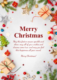 Merry Christmas Greeting Card Din Tree Gifts