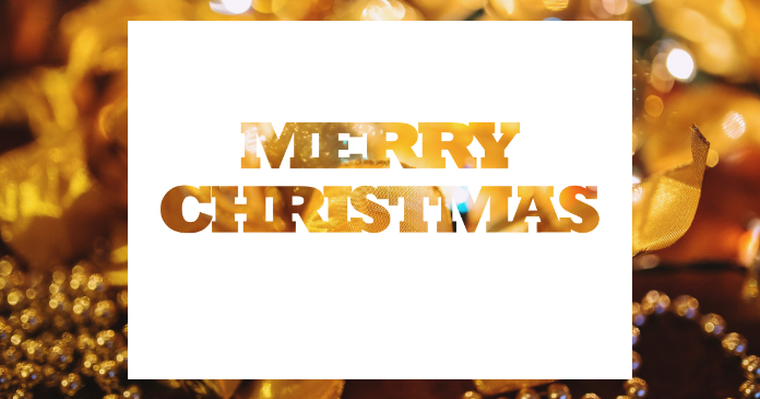 merry christmas greeting card facebook shared image template