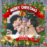 Merry Christmas Greeting Card Instagram