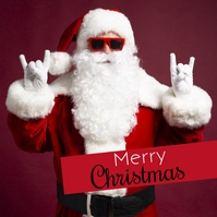 Merry Christmas Greeting Card Santa Funny ad