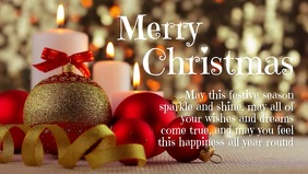 Merry Christmas Greeting Card Wishes Message Facebook-omslagvideo (16: 9) template