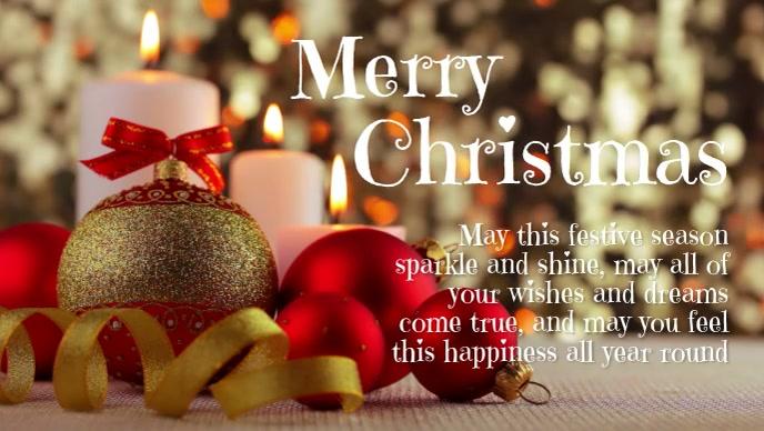 Modèle Joyeux Noël Carte de Voeux Voeux Message | PosterMyWall