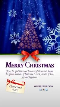 Merry Christmas Greeting Instagram Digitale Vertoning (9:16) template