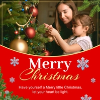 Merry Christmas Greeting Instagram Post Quadrato (1:1) template
