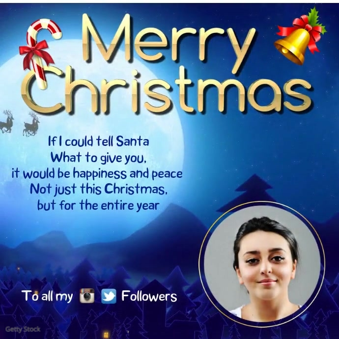 Merry Christmas Greeting Instagram Template