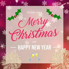 Merry Christmas Greeting Square Video