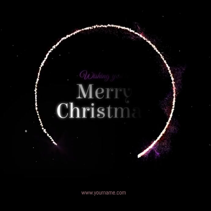 Merry Christmas Greeting Template Instagram Post