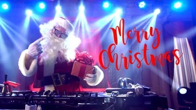 Merry Christmas Greeting Video Cool Santa Dj template