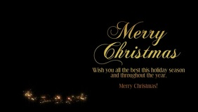 Merry christmas greeting wishes message video
