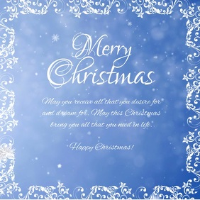 Merry Christmas Greeting Wishes Video Snow