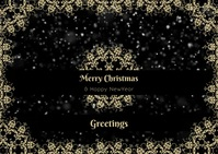 Merry Christmas Greetings Postcard template