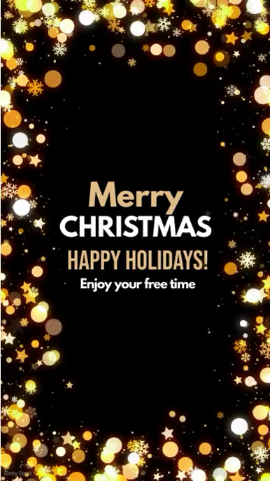 Merry Christmas Greetings Story Wishes Gold template