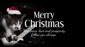 Merry Christmas Greetings Video Cat Piano