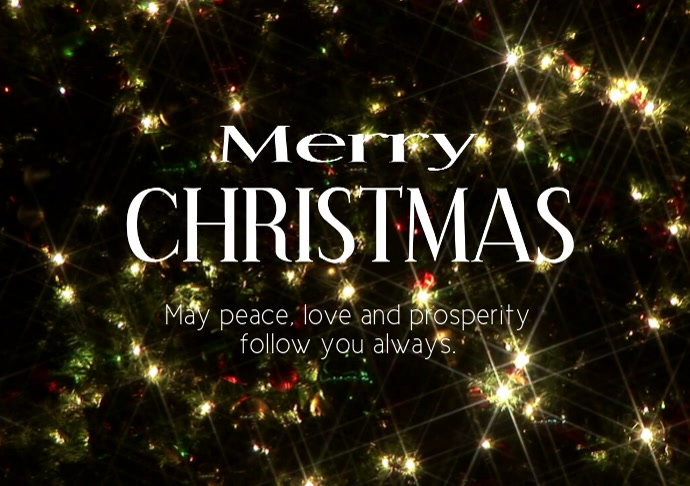Merry Christmas Greetings Video Lights Tree