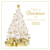 Merry Christmas happy new year Greeting Card Pos Instagram template