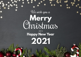 Merry Christmas happy new year Greeting Card