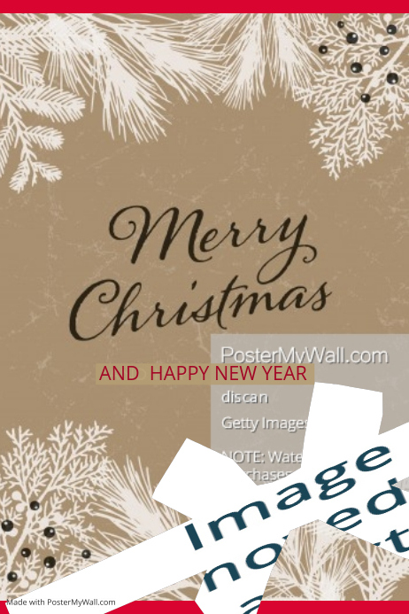 merry christmashappy new year poster customize template