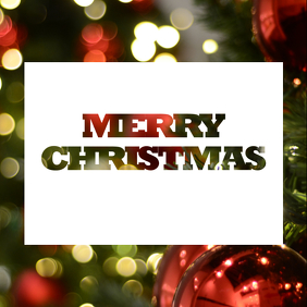 merry christmas instagram greeting template