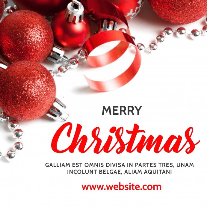 merry christmas instagram post advertisement template