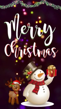 merry christmas INSTAGRAM STORY TEMPLATE Instagram-Story