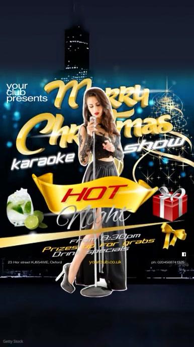 merry christmas karaoke post