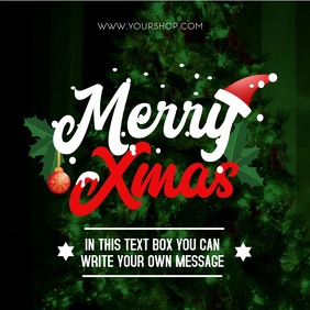 merry christmas message video for online