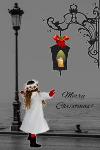 merry christmas/navidad/holidays/postcard Cartaz template