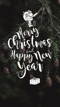 Merry Christmas New Year Instagram Story template