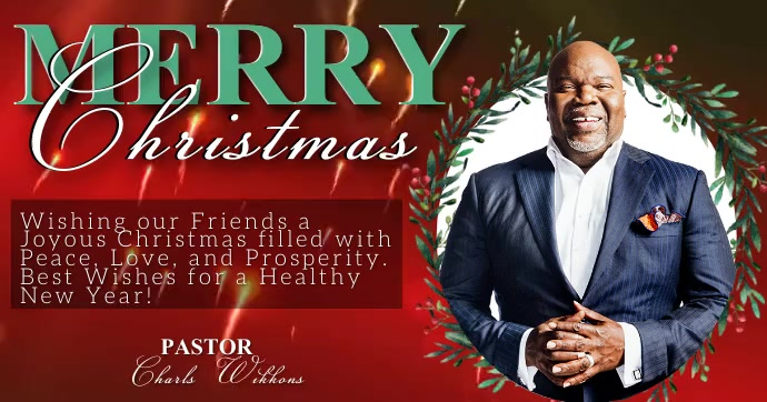 MERRY CHRISTMAS ONLINE TEMPLATE Obraz udostępniany na Facebooku