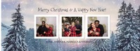 Merry Christmas Photo Facebook Cover template
