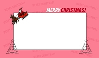 merry christmas postcard template Merker