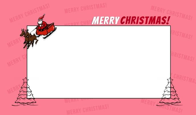 merry christmas postcard template Mærke