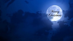 Merry Christmas poster Facebook Cover Video (16:9) template