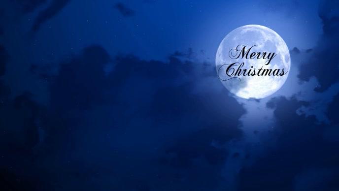 Merry Christmas poster Facebook 封面视频 (16:9) template