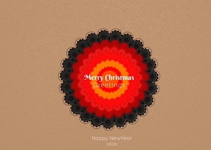Merry christmas poster postcard