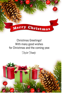 9700 Customizable Design Templates For Merry Christmas Card