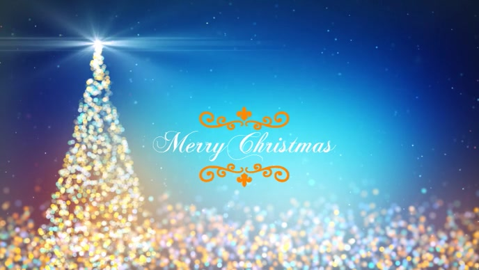 Merry Christmas Poster template Film w tle na Facebooka (16:9)
