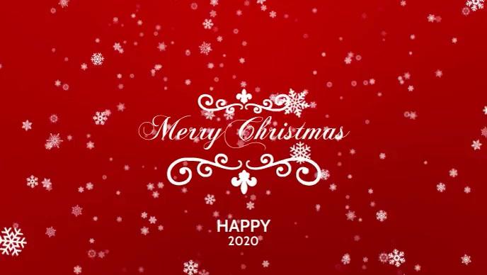 Merry Christmas Poster template Vídeo de portada de Facebook (16:9)