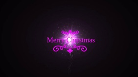 Merry Christmas Poster template Facebook Cover Video (16:9)