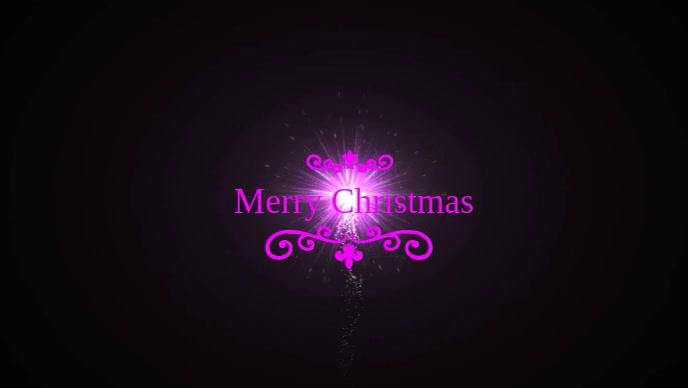Merry Christmas Poster template Facebook 封面视频 (16:9)
