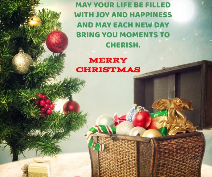 MERRY CHRISTMAS QUOTE TEMPLATE Persegi Panjang Besar