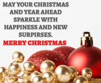 MERRY CHRISTMAS QUOTE TEMPLATE Rectangle moyen