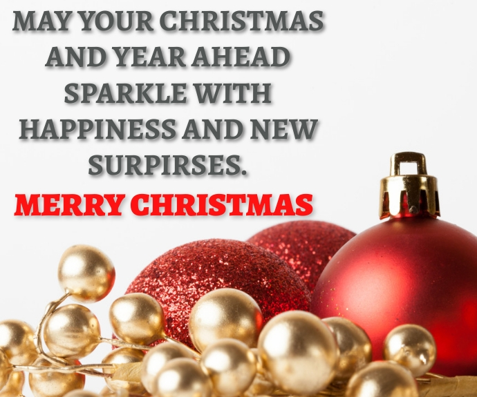 MERRY CHRISTMAS QUOTE TEMPLATE Persegi Panjang Sedang