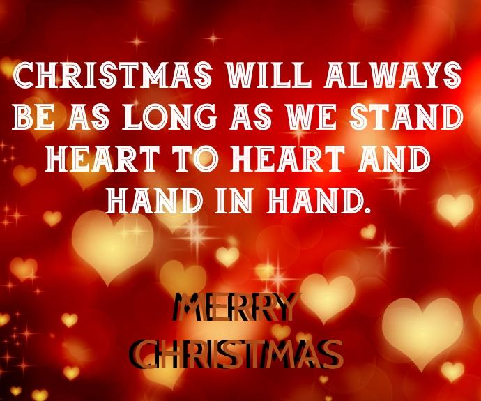 MERRY CHRISTMAS QUOTE TEMPLATE Persegi Panjang Sedang