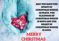 MERRY CHRISTMAS QUOTE TEMPLATE A4