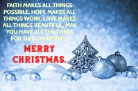 MERRY CHRISTMAS QUOTE TEMPLATE โปสเตอร์