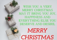 MERRY CHRISTMAS QUOTE TEMPLATE A1