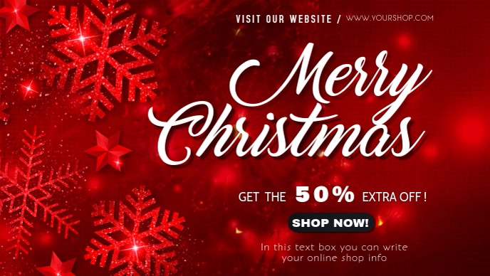 merry christmas sale facebook cover page