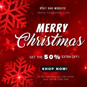 merry christmas sale square video template