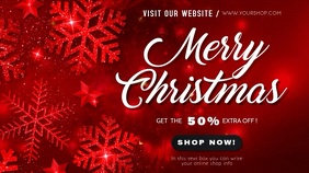 merry christmas sale video template Digitale Vertoning (16:9)
